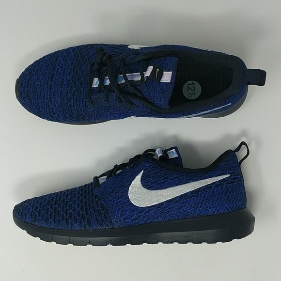 Nike Roshe One Flyknit Racer Blue Mens Size 12.5